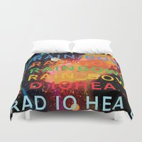 radiohead Duvet Covers featuring Radiohead - In Rainbows by NICEALB