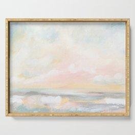 Rebirth - Pastel Ocean Seascape Serving Tray
