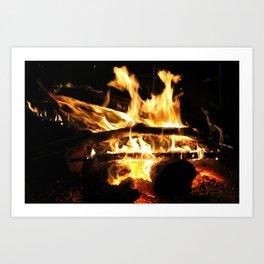 Crackling Fire Art Print