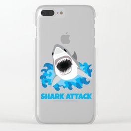 Great White Shark Attack Clear iPhone Case