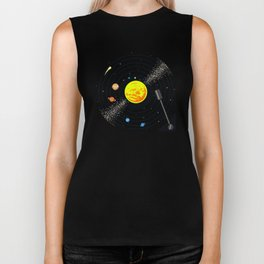 Solar System Vinyl Record Biker Tank
