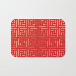 Human History (Red and Brown) Bath Mat