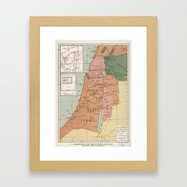 Jerusalem During the Roman Period Palestine Map Framed Art Print