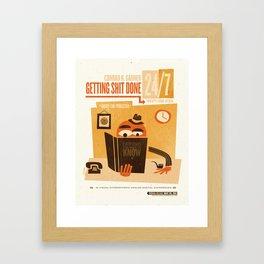Getting S*** Done Framed Art Print