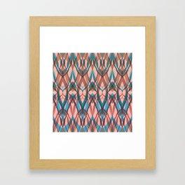 Abstract geometric wave . Framed Art Print