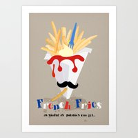 french fries Art Prints featuring French Fries by Elisandra