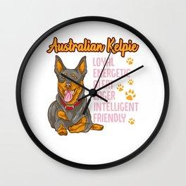 Cute Australian Kelpie Loyal & Friendly Dog Wall Clock