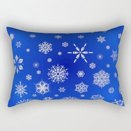 Snow in the Winter Night Rectangular Pillow