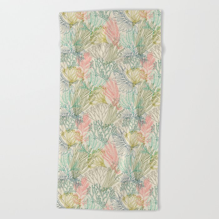 Flowing sea Beach Towel