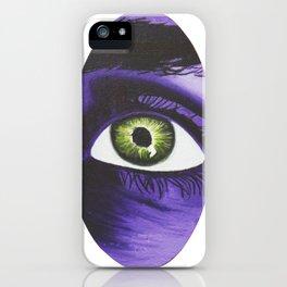 Purple Look Oil Painting II iPhone Case