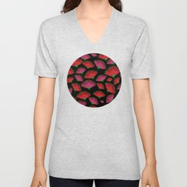 Pohututkawa on a Black Background Unisex V-Neck