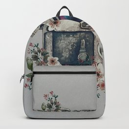 Camera with Summer Flowers Backpack