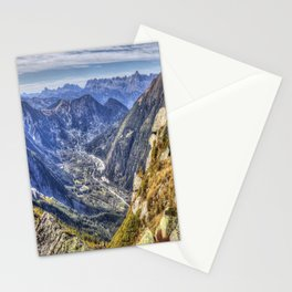 French Alps Mountain Valley Stationery Cards