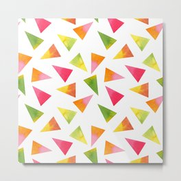 Beautiful Colorful Triangles Metal Print