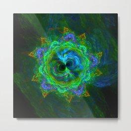 Freaky flower fractal kaleidoscope Metal Print