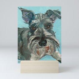 Schnauzer Dog Portrait Mini Art Print