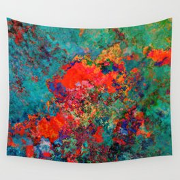 red poppies fantasy Wall Tapestry