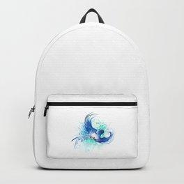 Watercolor Blue Bird Backpack