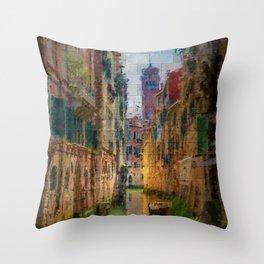 Italian Graffiti - Venice Throw Pillow
