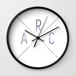 ARC Logo Hint of Galaxy Wall Clock