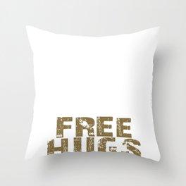 Brazilian Jiu-Jitsu Free Hugs Funny Throw Pillow