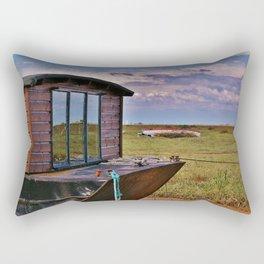 Boats on the Salt-marsh Rectangular Pillow