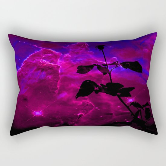 A Rose in Space Rectangular Pillow