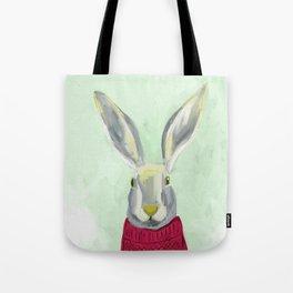Warm Bunny Tote Bag