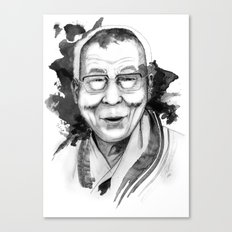 Belief & Knowledge (Dalai Lama) by carographic Canvas Print