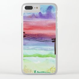 skyscapes 4 Clear iPhone Case
