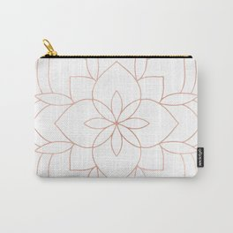 Mandala Rose Gold Pink Art Deco Carry-All Pouch