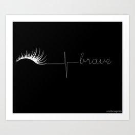 Brave (negative) Art Print