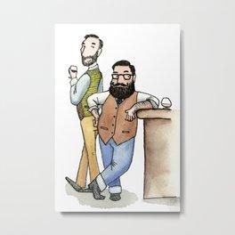 Two bearded guys Metal Print