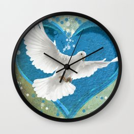 Bird of Peace and Love Wall Clock