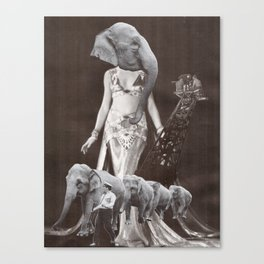 All Circus Gods and Starlets Ordered on Parade (Collage) Canvas Print