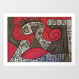 Relationship´s math Art Print