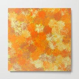 Pumpkin Tumbleweeds Metal Print