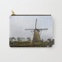 Dutch windmill | Kinderdijk | UNESCO World Heritage Site | Wallart Carry-All Pouch