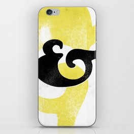Goudy Stout Ampersand iPhone Skin