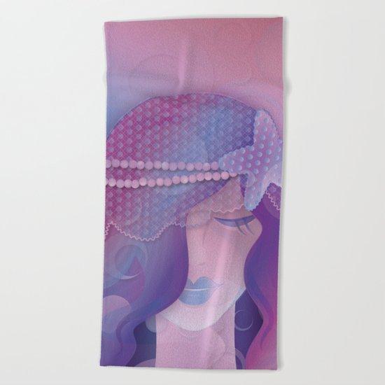 Mermaid IV - Pink Violet Princess Beach Towel