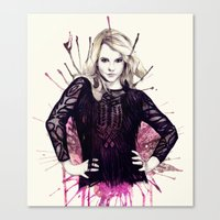britney Canvas Prints featuring Britney by Mibou