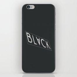 BLACK NEON iPhone Skin