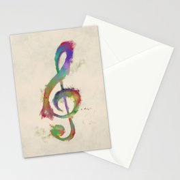 Treble Clef Stationery Cards