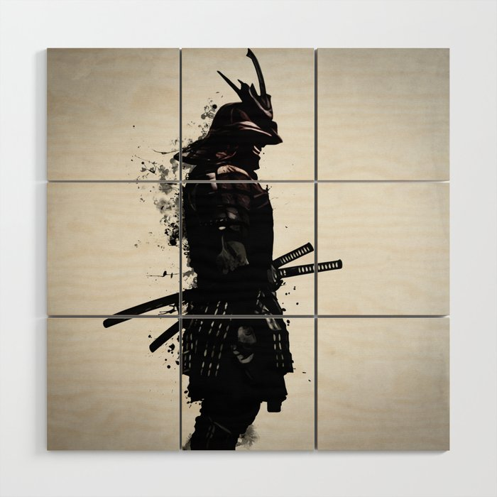 Armored Samurai Wood Wall Art by nicklasgustafsson | Society6