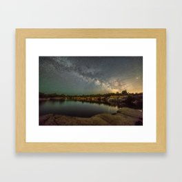 Milkyway at Halibut Point State Park quarry Framed Art Print
