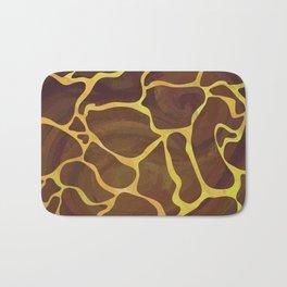 Giraffe Brown and Yellow Print Bath Mat