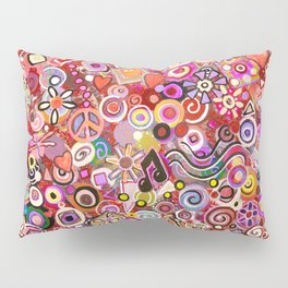 Valentine Painted Abstract Pillow Sham