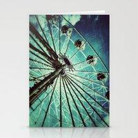 ferris wheel Stationery Cards featuring Ferris Wheel by Angela Bruno