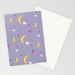 Moon Bunnies Pattern Sheet Duvet - V2 Stationery Cards