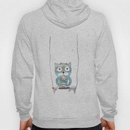 Owl Fun #2 #blue #gold #drawing #decor #art #society6 Hoody